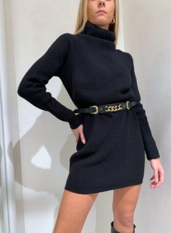 Shop Online Maxi maglia nera collo alto Kontatto