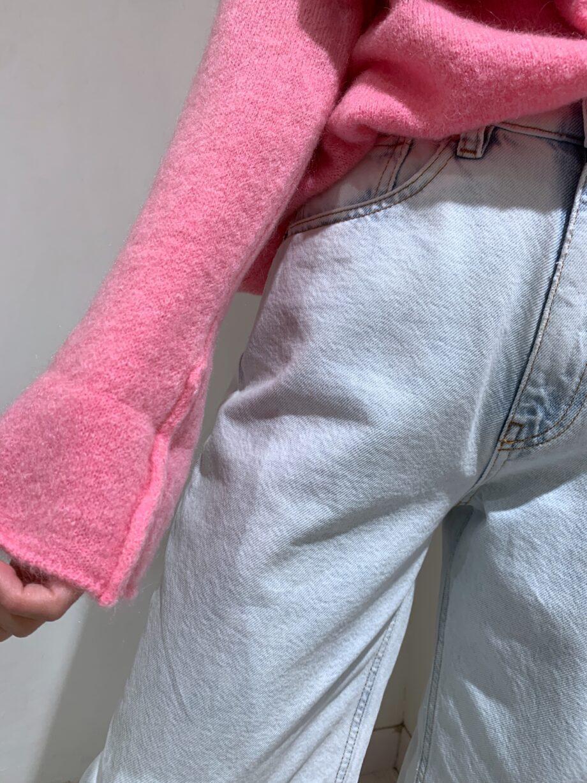 Shop Online Maglione over rasato rosa fluo Souvenir