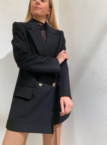 Shop Online Cappotto corto nero doppiopetto So allure