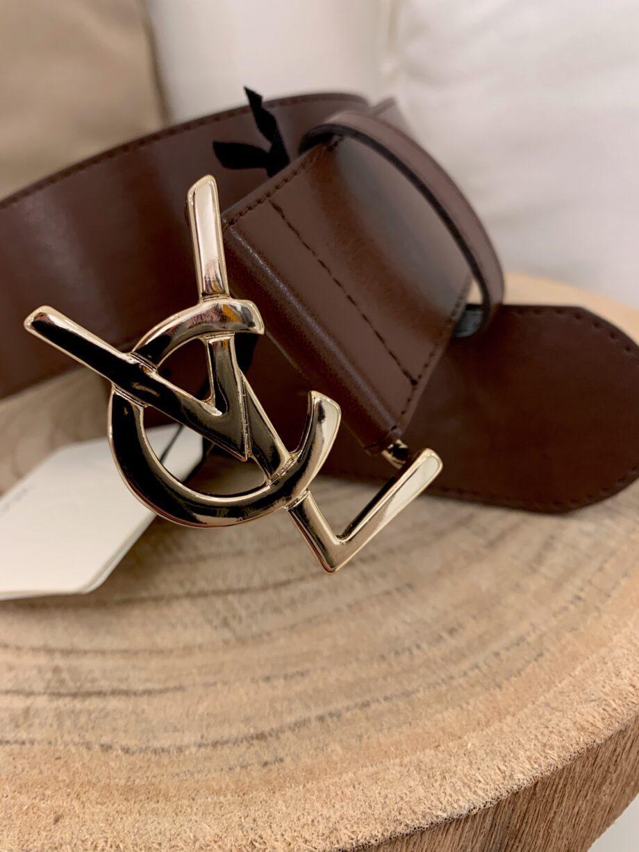 Shop Online Cintura marrone modello fibbia YSL Vicolo