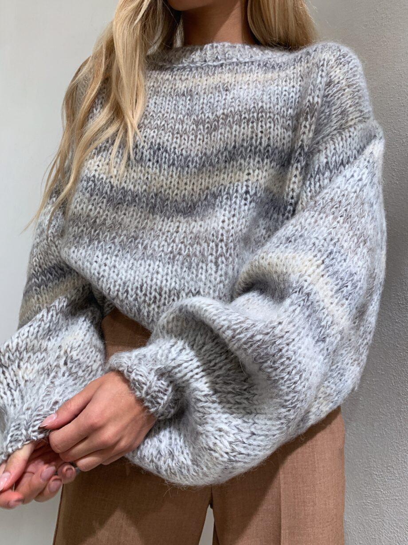 Shop Online Maglione over multicolore toni freddi So Allure