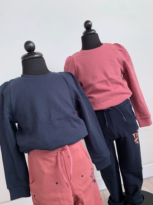 Shop Online Felpa girocollo rosa scuro maniche a sbuffo Name it