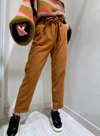 Shop Online Pantalone in velluto ruggine Souvenir