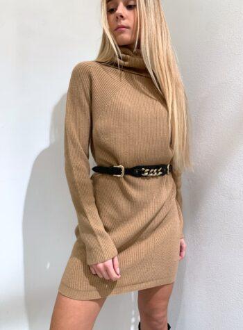 Shop Online Maxi maglia cammello collo alto Kontatto
