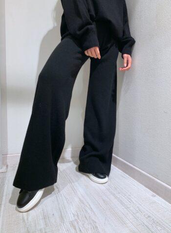 Shop Online Pantalone palazzo in maglia nero Kontatto