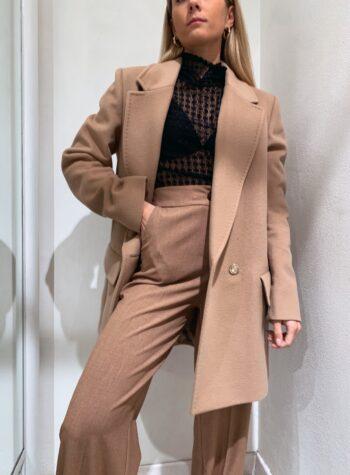 Shop Online Cappotto corto cammello doppiopetto So Allure