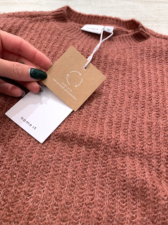Shop Online Maglioncino rosa antico in maglia inglese name it