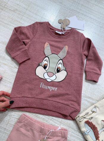 Shop Online Vestito felpa rosa con stampa Disney Name it