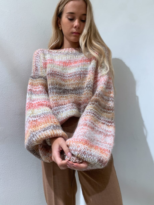 Shop Online Maglione over multicolore toni caldi So Allure