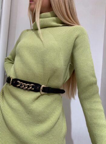 Shop Online Maxi maglia pistacchio collo alto Kontatto
