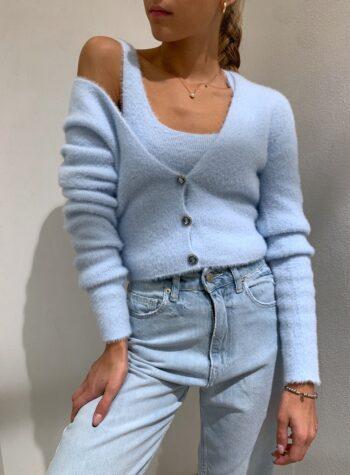 Shop Online Top in peloncino azzurro Kontatto