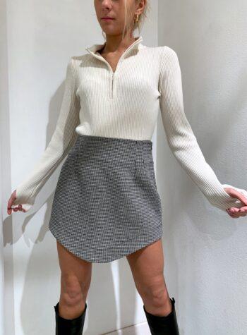 Shop Online Minigonna asimmetrica pied de poule HaveOne