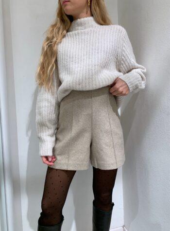 Shop Online Pantaloncino in panno beige Vero Moda