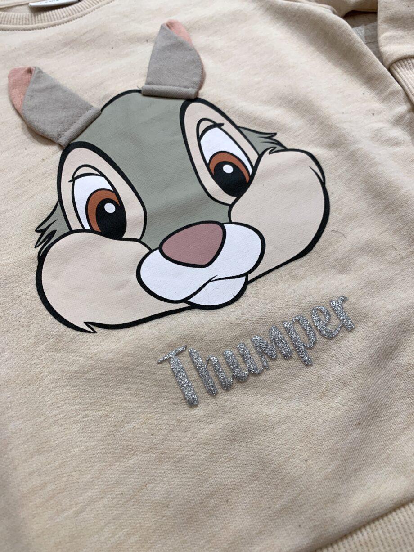 Shop Online Vestito felpa panna con stampa Disney Name it