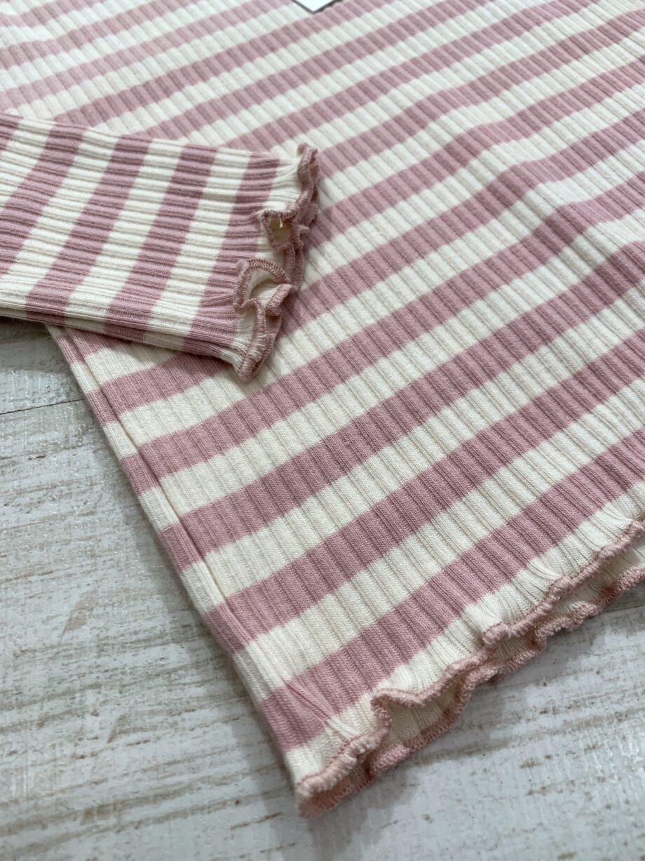 Shop Online Maglietta a costine rigata rosa Name it