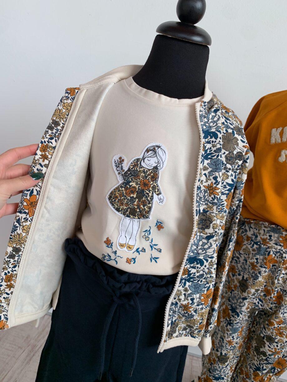 Shop Online Maglietta panna con patch bambina Name it