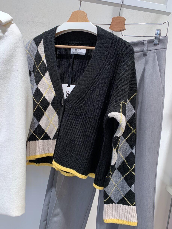Shop Online Cardigan CAMILA nero panna e grigio Odì Odì