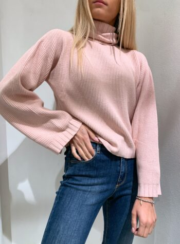 Shop Online Maglioncino scatoletta rosa collo alto Kontatto