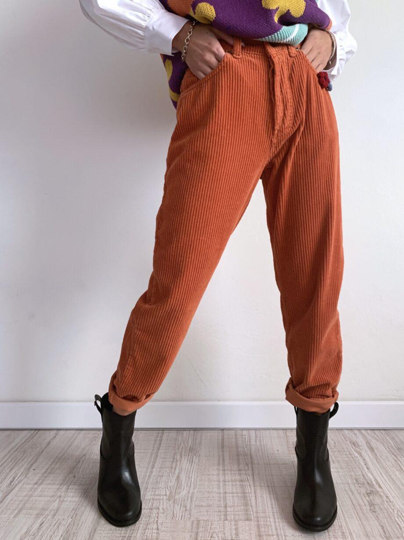 Shop Online Pantalone velluto a costine ruggine Souvenir