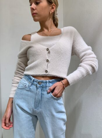 Shop Online Top in peloncino panna Kontatto
