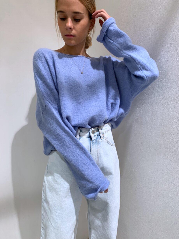 Shop Online Maglione over rasato azzurro Souvenir