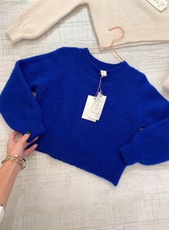 Shop Online Maglioncino rasato bluette Souvenir kids
