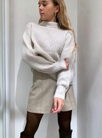 Shop Online Maglione over in maglia inglese panna Vero Moda