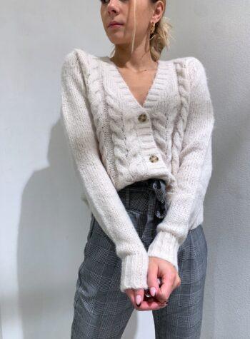 Shop Online Giacchina panna con trecce Vero Moda