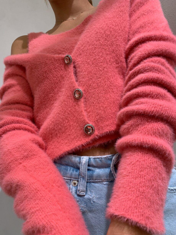 Shop Online Giacchina in peloncino rosa corallo Kontatto